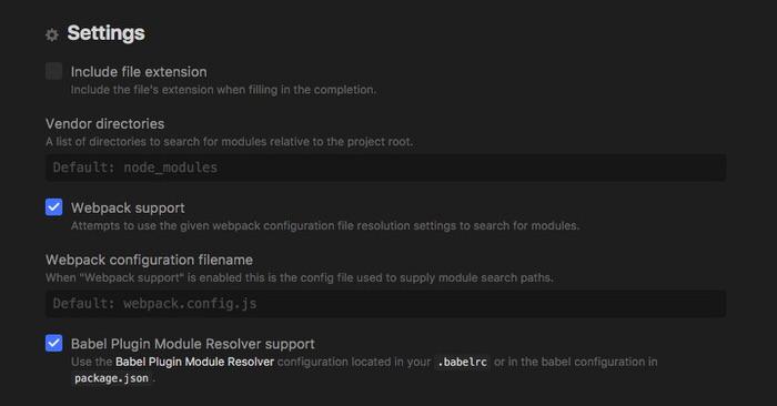 autocomplete-modules setting